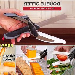 New Multi-Function Smart Clever Cutter Scissor 2 in 1 Cuttin
