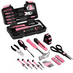 AFCN: New Pink 40pcs Tool Set Household Hand Tool Car Mainte
