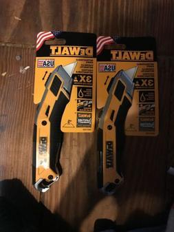 "NEW! DEWALT Premium 7"" Retractable Utility Knife 2-Pack"