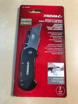 NEW HUSKY Utility BLACK Knife Belt Clip Folding Lock Quick C