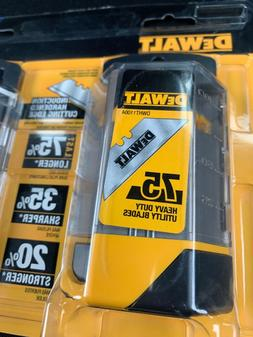 Pack Of Two 2 DeWalt # DWHT11004 Utility Construction Knife
