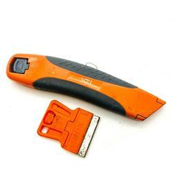 HDX Retractable Utility Knife + Scrapper, Orange & Gray Hand