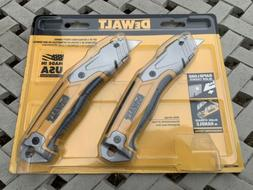 DEWALT Set of 2 Standard Retractable Utility Knives Box Cutt