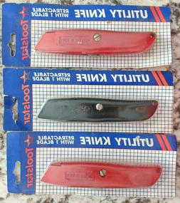 Set of 3 Toolstar Retractable Utility Knife Knives