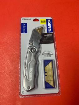 KOBALT Stainless Steel Quick Change Folding Lockback Knife,