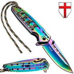 Grand Way Tactical Folding Knife - Spring Assisted Knife - E