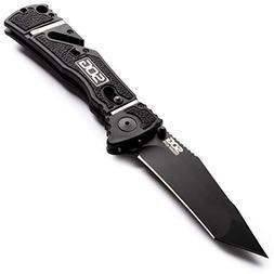 "SOG Trident Elite TF104-CP Knife 3-3/4"" Folding Blade Plain"