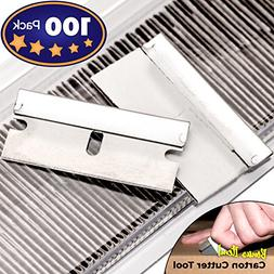 Ultra Sharp, USA-Made Steel Razor Scraper Blades Bulk 100 Pa