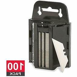 Utility Knife Blades Heavy Duty Razor With Dispenser, 100 Pa