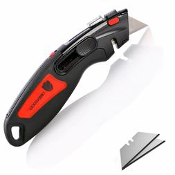 ORIENTOOLS Utility Knife Box Cutter Auto Retractable for Hea