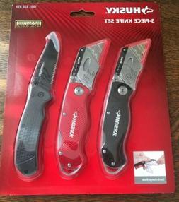 HUSKY Utility Knife Folding Back Razor Blade Box Cutter Belt