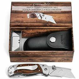 Utility Knife Folding Box Cutter - Best Work Clip. 2 1 Serra