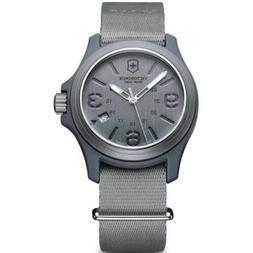 Victorinox Swiss Army Men's Watch Grey Dial Nylon Strap 2415